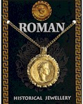 Caesar Gold Coin Flan Pendant - Gold Plated