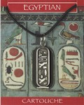 Cleopatra Cartouche Pendant - Pewter