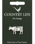 Friesian Cow Pin Badge - Pewter
