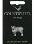 Sheep Pin Badge - Pewter