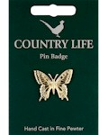 Swallowtail Butterfly Pin Badge - Gold Plated