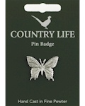 Swallowtail Butterfly Pin Badge - Pewter