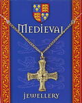 Medieval Cross Pendant - Gold Plated