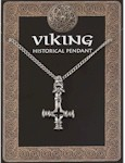 Dragons Head Cross Amulet Pendant Pewter on Chain