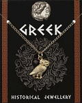 Greek Owl Pendant - Gold Plated