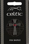 Celtic Gem Cross Pin Badge