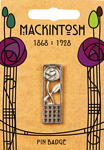 Mackintosh Rose & Square Pin Badge