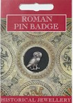 Roman Owl Pin Badge - Pewter