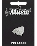 Piano Pin Badge - Pewter