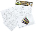 Prehistoric Educational Colouring Postcards