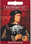 Richard III Boar Pin Badge - Pewter