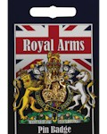 Royal Arms Crown Pin Badge - Gold Plated