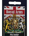 Royal Arms Unicorn Pin Badge - Gold Plated
