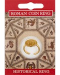 Roman Coin Ring - Gold Plated