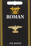 Roman Eagle Pin Badge - Gold Plated