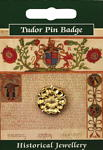 Tudor Rose Pin Badge - Gold Plated