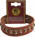 Roman Stitched Leather Stud Bracelet