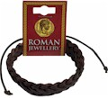 Roman Leather Single Plaited Bracelet