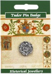 Tudor Rose Pin Badge - Pewter
