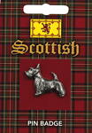 Scottish Scottie Dog Pin Badge