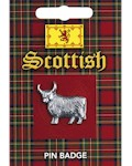 Highland Cow Pin Badge