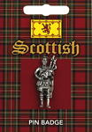 Scottish Piper Pin Badge