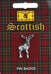 Scottish Whole Stag Pin Badge