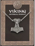 Thors Hammer Amulet Pendant Pewter on Chain