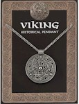 Viking Shield Pendant Pewter on Chain