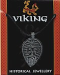 Viking Face Pendant - Pewter
