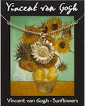 Van Gogh Sunflower Pendant - Gold Plated