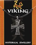Viking Cross Pendant - Pewter