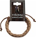 Viking Brown Leather Plaited Bracelet