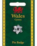 Daffodil Pin Badge - Pewter