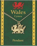 Welsh Dragon Pendant - Gold Plated