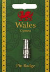 Welsh Davy Lamp Pin Badge - Pewter