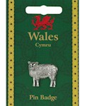 Welsh Sheep Pin Badge - Pewter